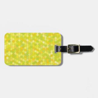 Etiqueta De Bagagem teste padrão amarelo