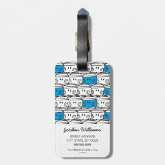 Etiqueta De Bagagem Teste padrão azul do Sr. Colisão  
