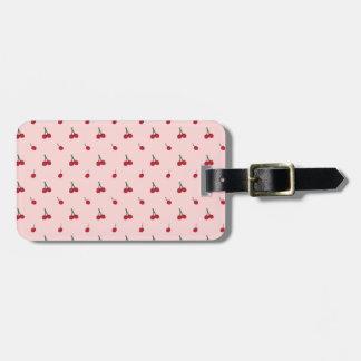 Etiqueta De Bagagem Teste padrão cor-de-rosa da cereja