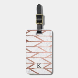 Etiqueta De Bagagem Teste padrão cor-de-rosa da viga de herringbone do