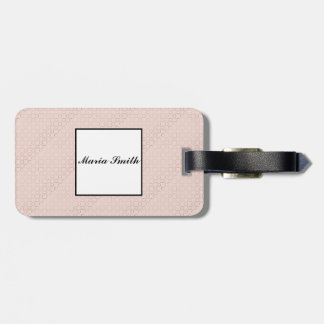 Etiqueta De Bagagem Teste padrão cor-de-rosa do ouro