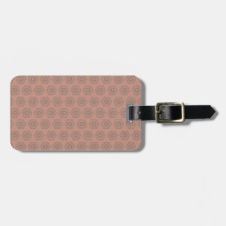 Etiqueta De Bagagem Teste padrão cor-de-rosa do polígono