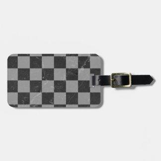 Etiqueta De Bagagem Teste padrão da xadrez