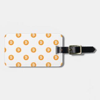 Etiqueta De Bagagem Teste padrão do logotipo de Bitcoin