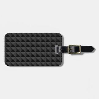 Etiqueta De Bagagem Teste padrão geométrico moderno do quadrado preto