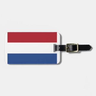 Etiqueta De Bagagem Teste padrão patriótico de Netherland Holland