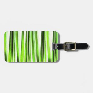 Etiqueta De Bagagem Teste padrão Stripy verde eterno