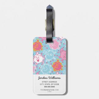 Etiqueta De Bagagem Testes padrões cor-de-rosa da senhorita princesa  