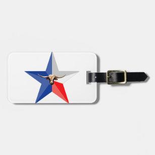 Etiqueta De Bagagem Texas Longhorn o produc do múltiplo do -Poder do s