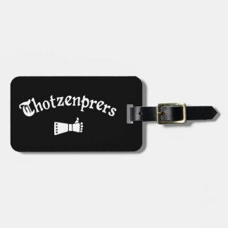 Etiqueta De Bagagem Thotzenprers