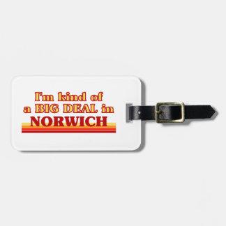 Etiqueta De Bagagem Tipo de I´m de uma grande coisa em Norwich