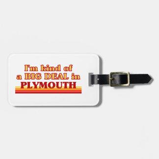 Etiqueta De Bagagem Tipo de I´m de uma grande coisa em Plymouth