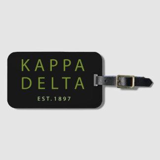 Etiqueta De Bagagem Tipo moderno do delta do Kappa