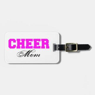Etiqueta De Bagagem Tipografia da mamã do elogio no rosa e no preto