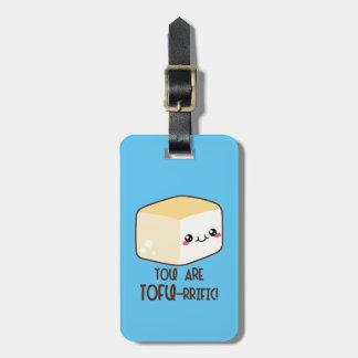 Etiqueta De Bagagem Tofu-rrific Emoji