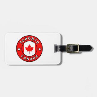 Etiqueta De Bagagem Toronto Canadá