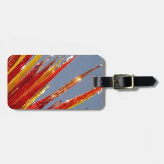 Etiqueta De Bagagem Trabalho de vidro colorido
