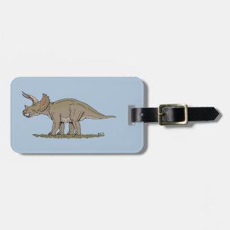 Etiqueta De Bagagem Triceratops