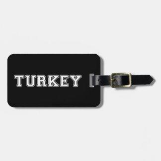 Etiqueta De Bagagem Turquia