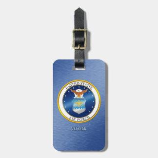 Etiqueta De Bagagem U.S. Tag da bagagem do veterano da força aérea