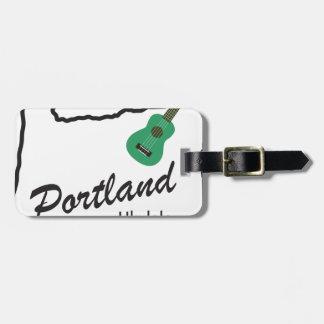 Etiqueta De Bagagem Ukulele quartas-feiras de Portland