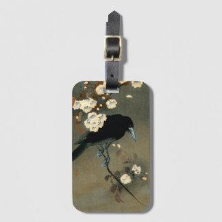 Etiqueta De Bagagem Um corvo e uma flor pelo vintage de Ohara Koson