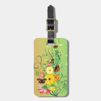 Etiqueta De Bagagem Uma árvore da borboleta