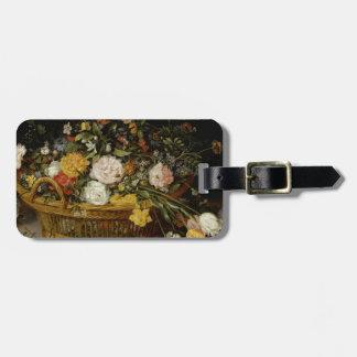 Etiqueta De Bagagem Uma cesta das flores - Jan Brueghel o mais novo