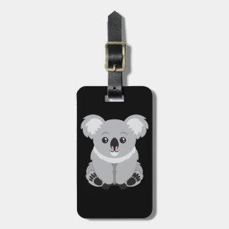 Etiqueta De Bagagem Urso de Koala bonito dos desenhos animados