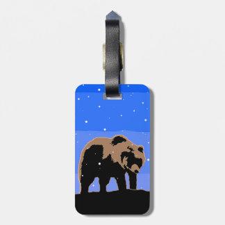 Etiqueta De Bagagem Urso de urso no inverno