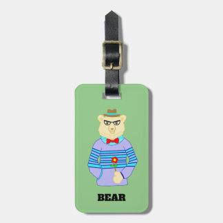 Etiqueta De Bagagem urso do geek