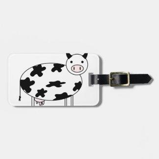 Etiqueta De Bagagem Vaca bonito