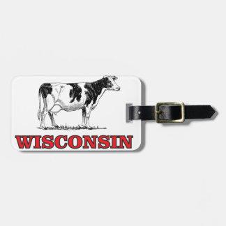 Etiqueta De Bagagem vaca vermelha de Wisconsin