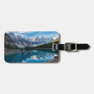 Etiqueta De Bagagem Vale dos dez picos, parque nacional de Banff