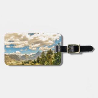 Etiqueta De Bagagem Vale e montanhas Latacunga Equador da escala de