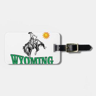 Etiqueta De Bagagem Vaqueiro de Wyoming