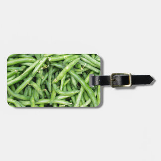 Etiqueta De Bagagem Vegetariano verde orgânico Vegitarian dos feijões