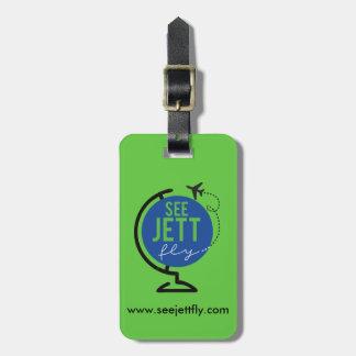 Etiqueta De Bagagem Veja a mosca de Jett - Tag da bagagem e do saco (o