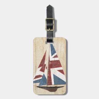 Etiqueta De Bagagem Veleiro britânico da bandeira