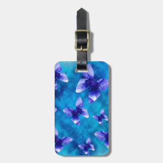 Etiqueta De Bagagem Verão azul da borboleta