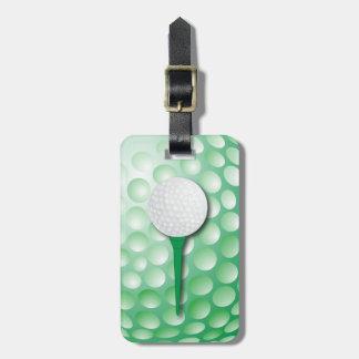 Etiqueta De Bagagem Verde do T de golfe  