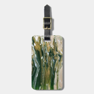 Etiqueta De Bagagem Verde & Tag personalizado abstrato da bagagem de