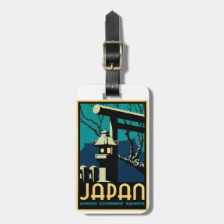 Etiqueta De Bagagem Viagem japonês do mundo do vintage das estradas de