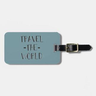 Etiqueta De Bagagem Viaja o Tag da bagagem do mundo