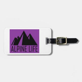 Etiqueta De Bagagem Vida alpina