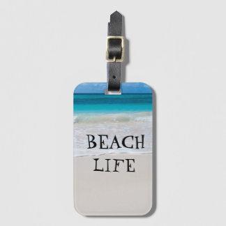 Etiqueta De Bagagem Vida bonita da praia