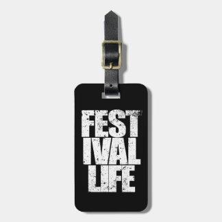 Etiqueta De Bagagem VIDA do FESTIVAL (branca)