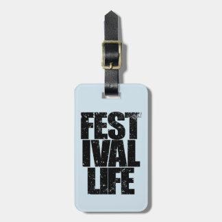 Etiqueta De Bagagem VIDA do FESTIVAL (preto)