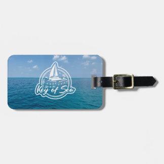 Etiqueta De Bagagem Vida na chave do Tag da bagagem do mar