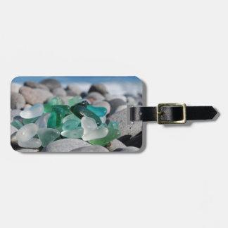 Etiqueta De Bagagem Vidro do mar no Tag da bagagem da praia